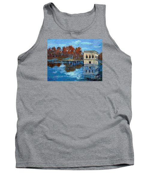 Tank Top featuring the painting Waltham Reservoir by Rita Brown