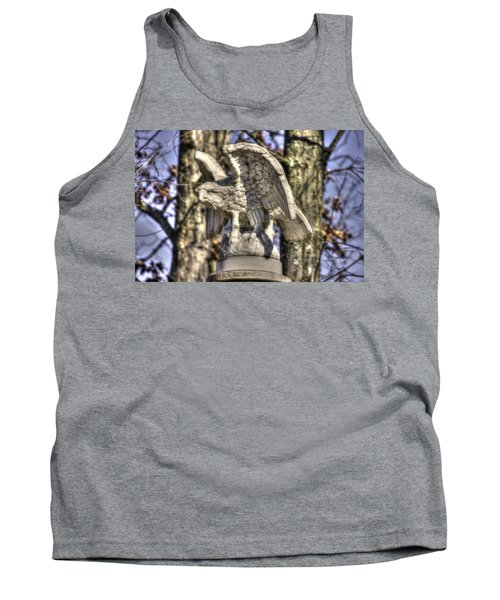 Tank Top featuring the photograph War Eagles - Vermont Company F 1st U. S. Sharpshooters-a1 Pitzer Woods Gettysburg by Michael Mazaika