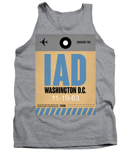 Washington D.c. Airport Poster 3 Tank Top by Naxart Studio