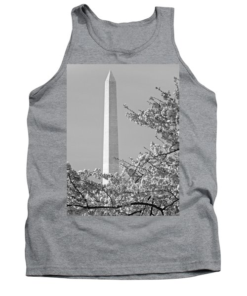 Washington Monument Amidst The Cherry Blossoms Tank Top