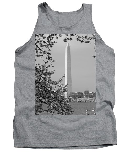 Washington Monument And Cherry Blossoms In April Tank Top