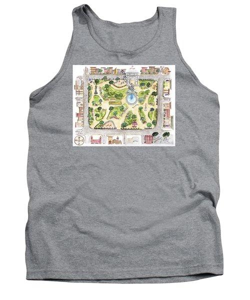 Washington Square Park Map Tank Top