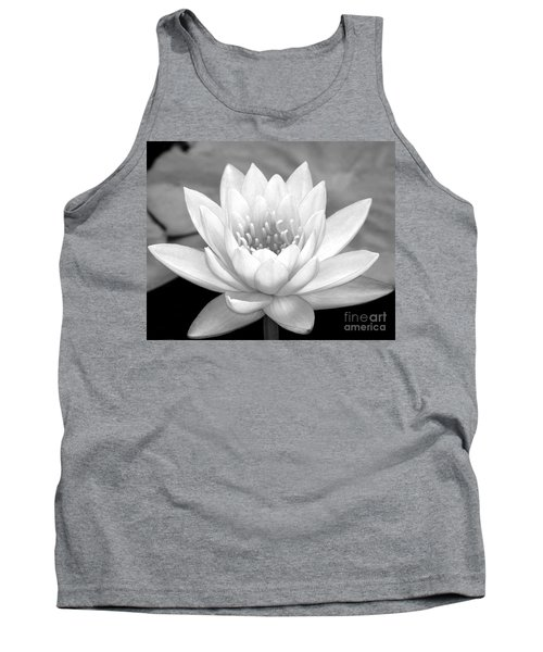 Water Lily In Black And White Tank Top