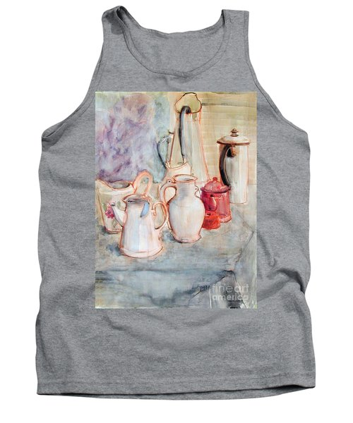 Watercolor Still Life With Red Can Tank Top