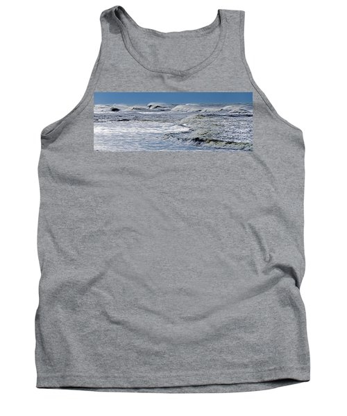 Waves Off Sandfiddler Rd Corolla Nc Tank Top by Greg Reed
