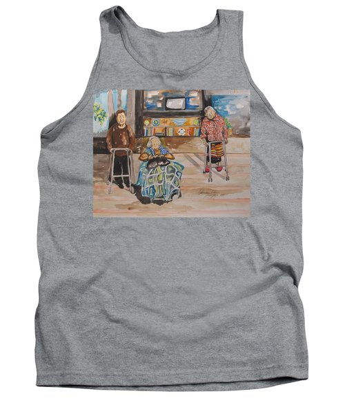 Tank Top featuring the painting We're Still Here by Esther Newman-Cohen