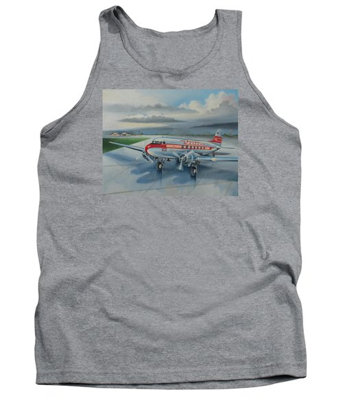 Western Airlines Dc-3 Tank Top by Stuart Swartz