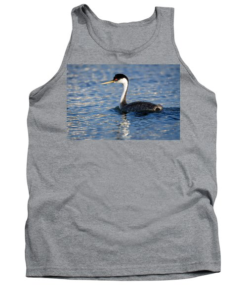 Tank Top featuring the photograph Western Grebe by Jack Bell