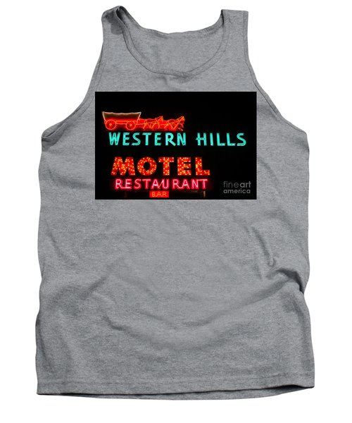 Western Hills Motel Sign Tank Top