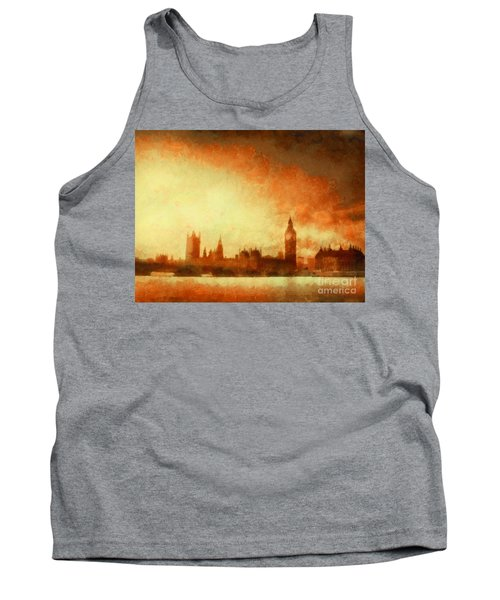Westminster At Dusk Tank Top