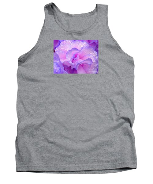 Wet Rose In Pink And Violet Tank Top by Nareeta Martin