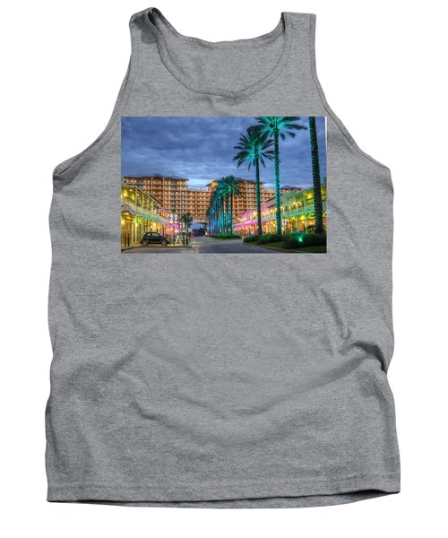 Wharf Turquoise Lighted  Tank Top by Michael Thomas