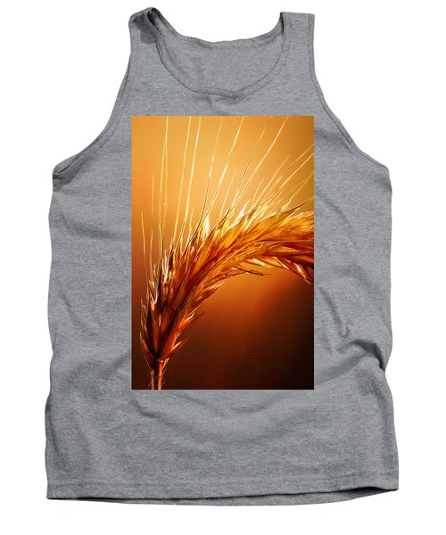 Wheat Close-up Tank Top by Johan Swanepoel