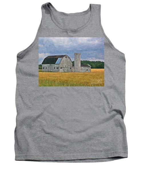 Wheat Field Barn Tank Top