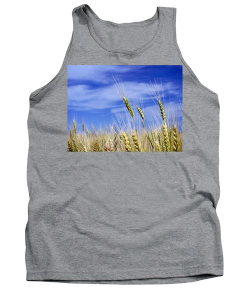 Tank Top featuring the photograph Wheat Trio by Keith Armstrong