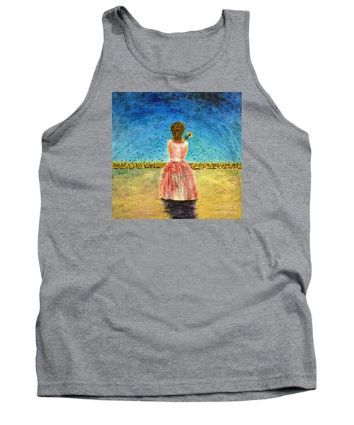 Tank Top featuring the painting Where Angels Sleep by Therese Alcorn