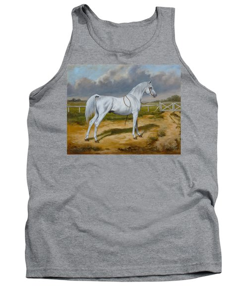 White Arabian Stallion Tank Top