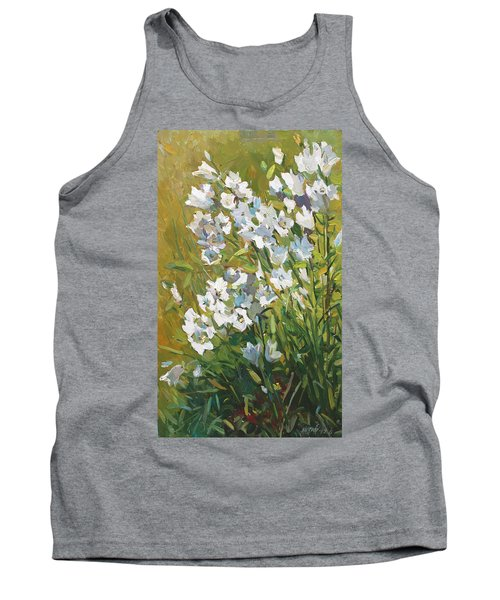 White Campanulas Tank Top