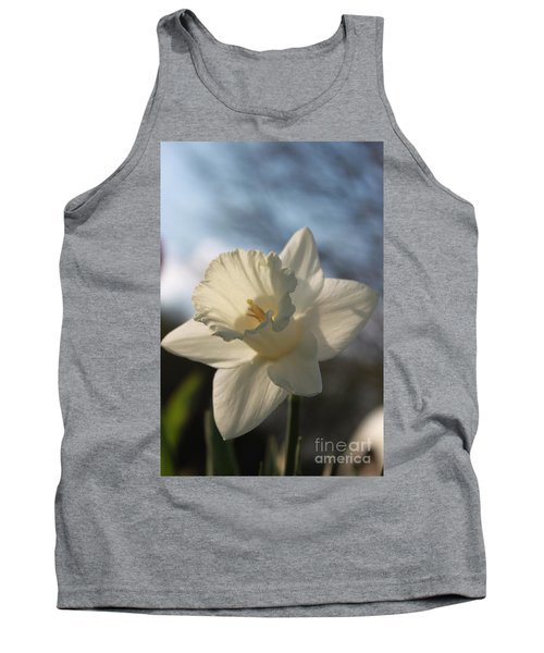 White Daffodil Tank Top