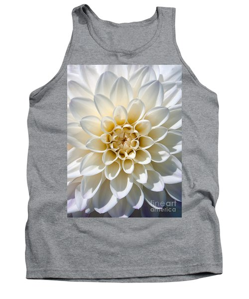 Tank Top featuring the photograph White Dahlia by Carsten Reisinger