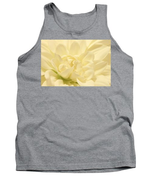 White Dahlia Dreams Tank Top