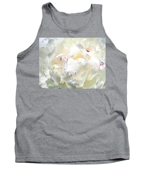 White Peony Tank Top by Will Borden
