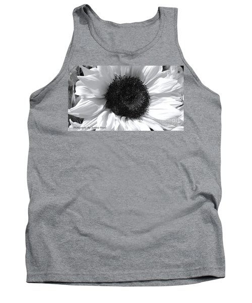 Tank Top featuring the photograph White Sunflower by Jeannie Rhode