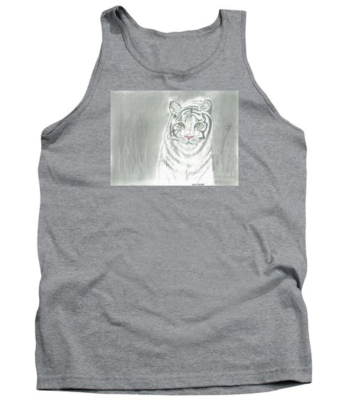 Tank Top featuring the pastel White Tiger by David Jackson
