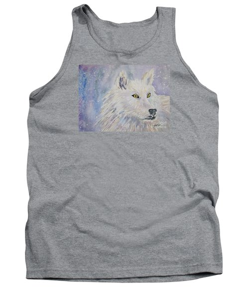 White Wolf Of The North Winds Tank Top