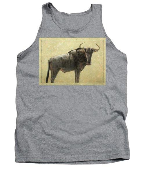 Wildebeest Tank Top by James W Johnson