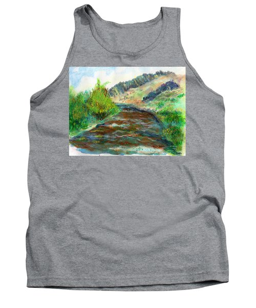 Willow Creek In Spring Tank Top by C Sitton