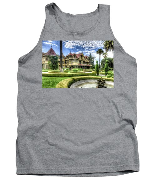 Tank Top featuring the photograph Winchester Mystery House by Jim Thompson