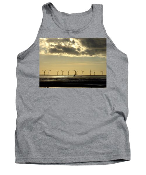 Wind Farm At Sunset Tank Top