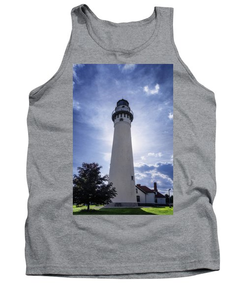 Wind Point Lighthouse Silhouette Tank Top