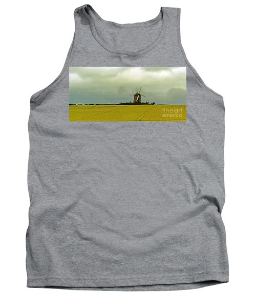 Windmill And Rapeseed And Storm Tank Top