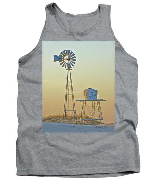 Windmill At Dawn 2011 Tank Top by Allen Sheffield