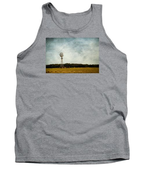 Windmill On The Farm Tank Top by Beverly Stapleton