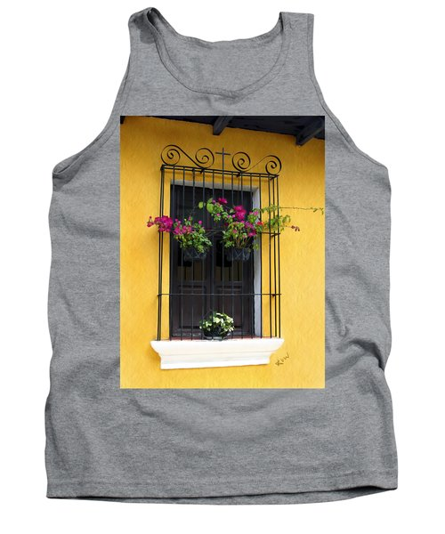 Window At Old Antigua Guatemala Tank Top