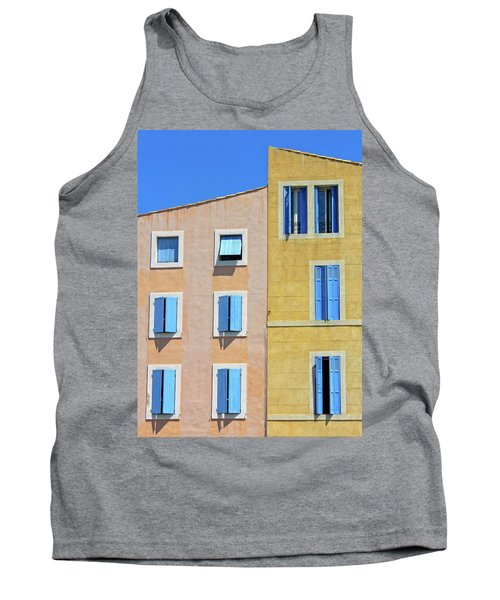 Tank Top featuring the photograph Windows Martigues Provence France by Dave Mills