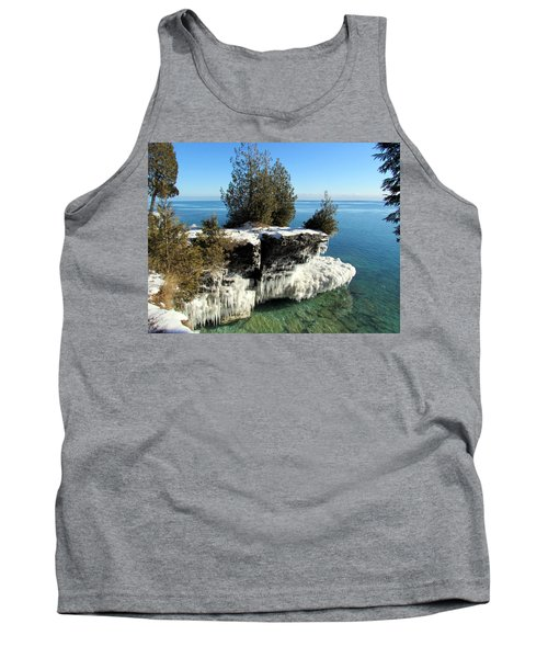 Winter At Cave Point Tank Top