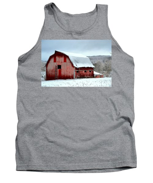 Winter Barn Tank Top by Deena Stoddard