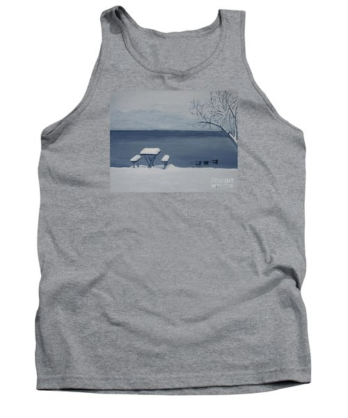 Winter By The Lake Tank Top