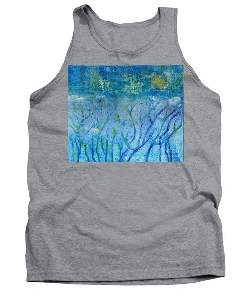 Winter Forest In Moonlight Tank Top