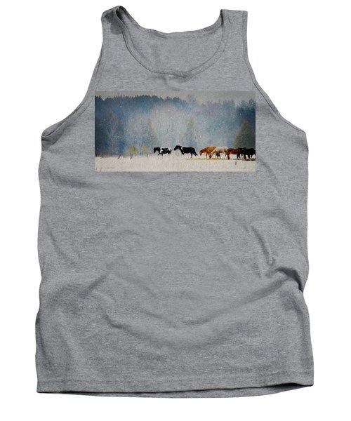 Winter Horses Tank Top