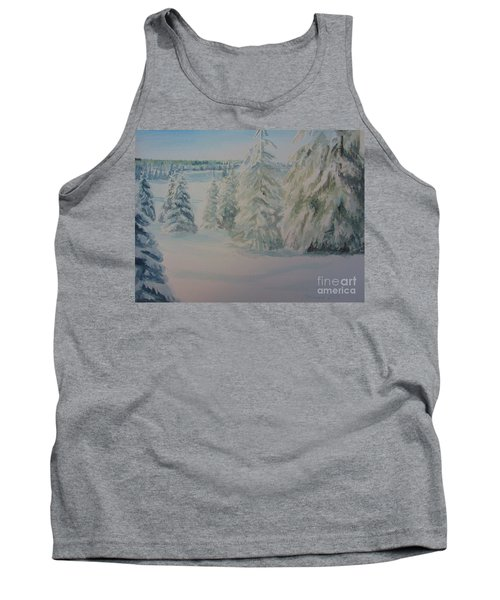 Tank Top featuring the painting Winter In Gyllbergen by Martin Howard