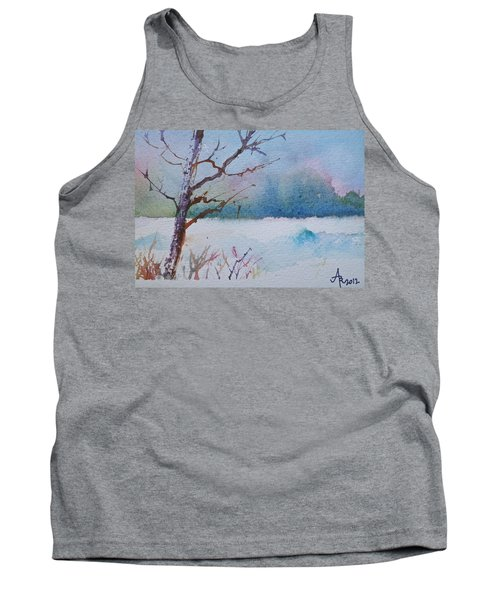 Winter Loneliness Tank Top by Anna Ruzsan