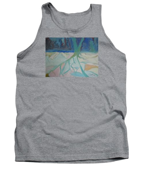 Tank Top featuring the painting Winter Night Shadows by Francine Frank