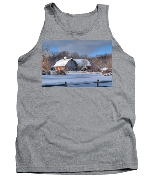 Tank Top featuring the photograph Winter On The Farm 14586 by Guy Whiteley