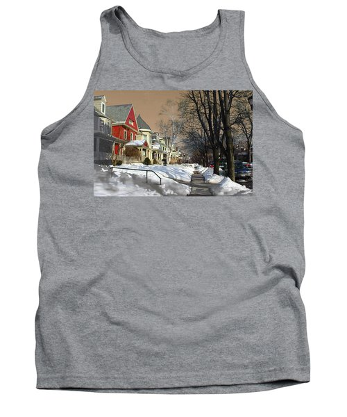 Tank Top featuring the pyrography Winter Scenery  by Viola El