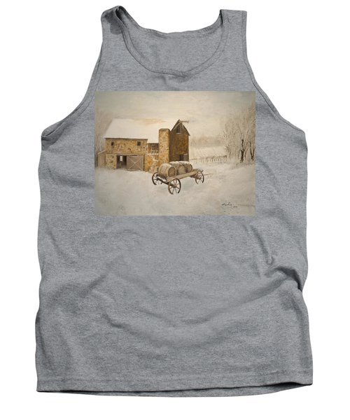 Tank Top featuring the painting Winter Wine by Alan Lakin